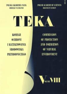 Teka Komisji Ochrony I Kształtowania Środowiska Przyrodniczego