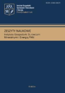 Zeszyty Naukowe Instytutu Gospodarki Surowcami Mineralnymi Polskiej Akademii Nauk