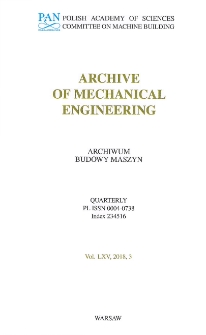 Archive of Mechanical Engineering
